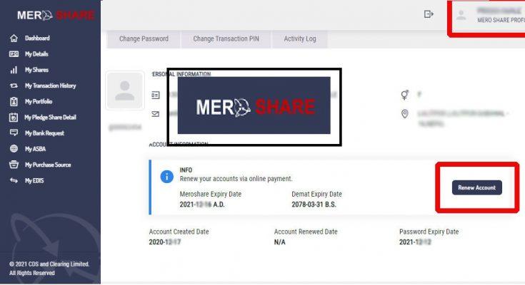 mero share renew check